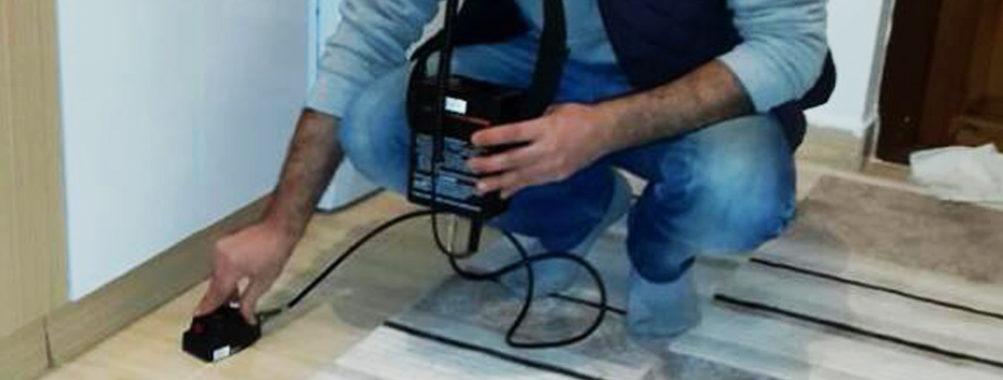 Erzurum kameralı cihazla su kaçak tespiti